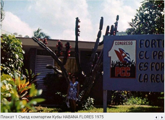 003. Плакат «Первый съезд компарии Кубы», Флорес, 1975