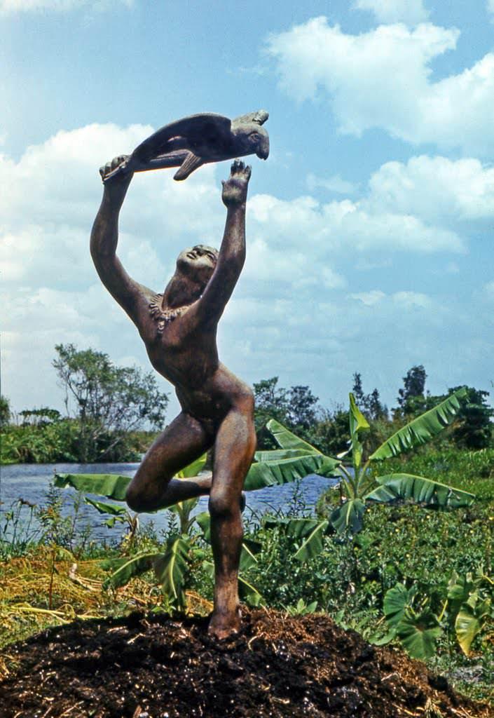 110. Скульптура на индейском острове, 1976