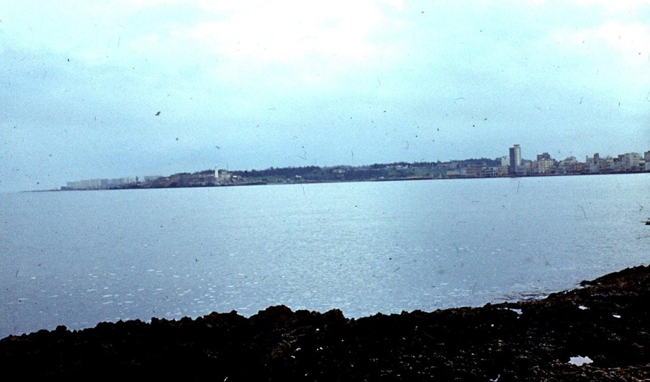 Сантьяго-де-Куба. 1983-1985. Сантьяго-де-Куба. Панорама бухты. Вид с крепости.