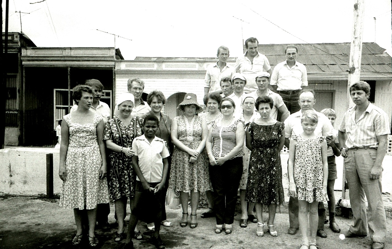 Сантьяго-де-Куба. 1983-1985. Группа туристов-советико из Моа. 2