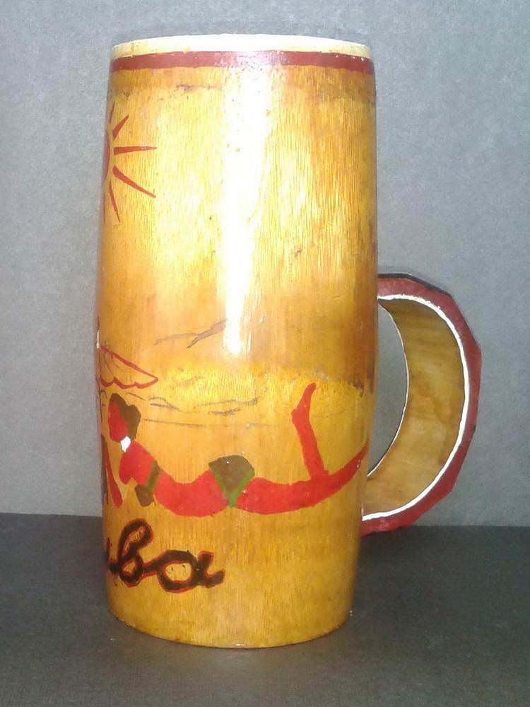Стакан из бамбука. Вид 3
