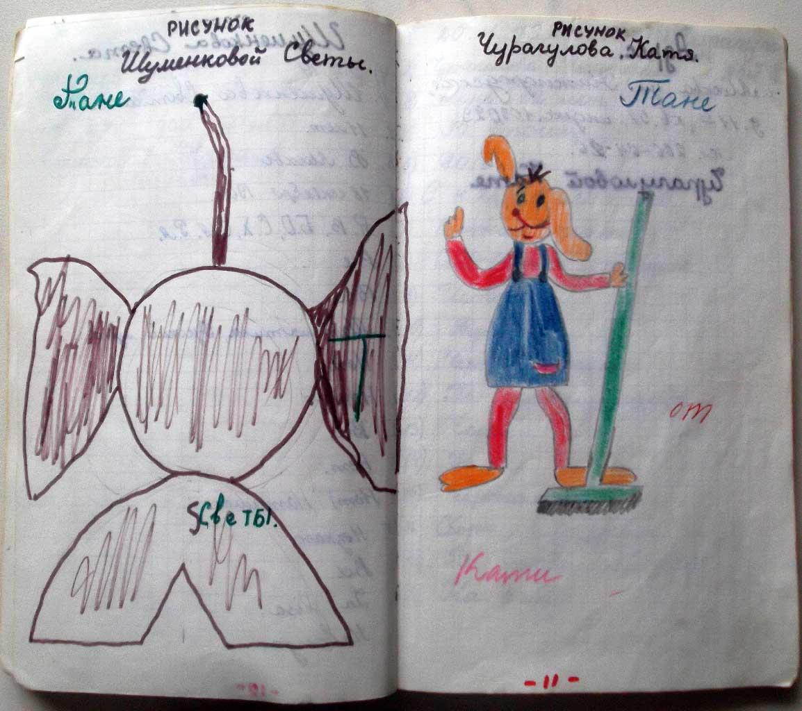 Анкета и рисунки друзей. 1979-1980. 5 класс. Лист 5