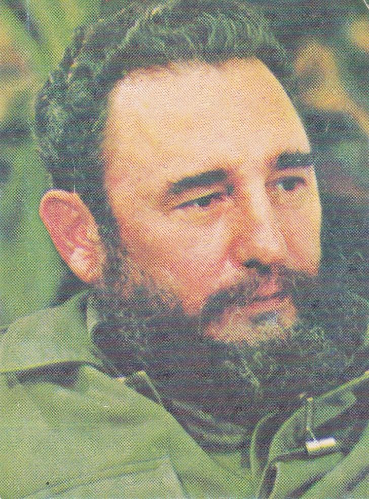 Календарик на 1990 год. Фидель Кастро. Титул.