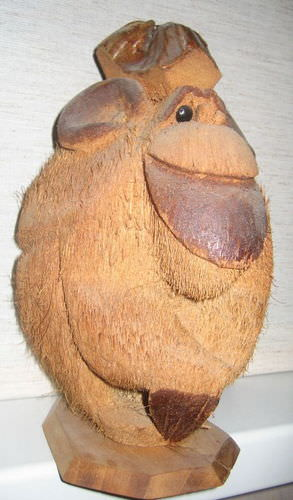 Обезьяна из кокоса
