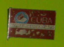 006. Куба - территория свободная от неграмотности. Значок времён Национальной кампании по ликвидации неграмотности.