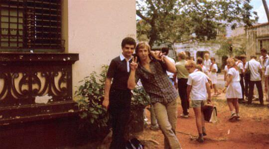 028. 1986 год, у школы (Гуленко Сергей, Новиков Денис)