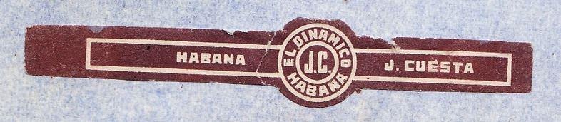 Наклейка на сигару марки «El Dinamico» (1979)