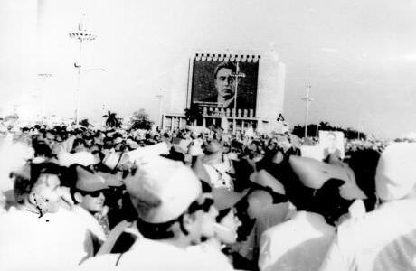 124. Праздничный митинг в Гаване. Приезд Л.И. Брежнева в 1974 году.