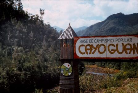 1983-1984. Въезд на место купания и отдыха на речке Кайо Гуан.