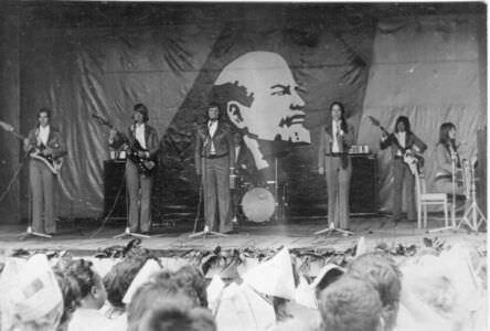 205. Концерт в клубе бригады. 1973 год.