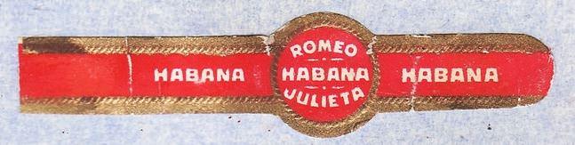 Наклейка на сигару марки «Romeo y Julieta» (1979)