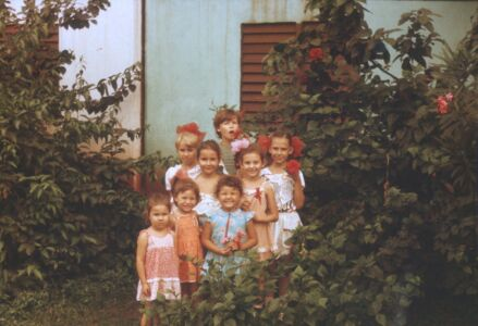 1987. Коллективная фотография возле дома 17, Колорадо