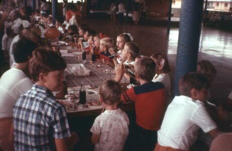 1985-1988. Детский праздник в клубе Колорадо. Возможно, Новый год.
