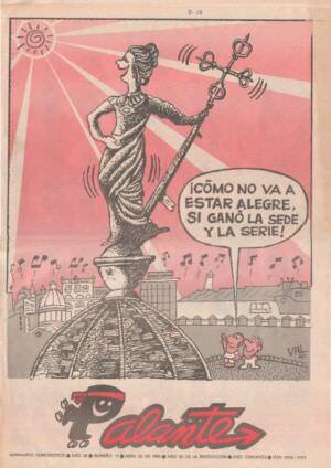 1990-04-23. Юмористический журнал Palante, «Вперед», номер 17, страница 1