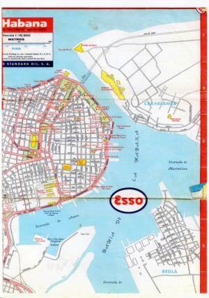 290. 1956. Карта Кубы и Гаваны. 1 лист, 4 фрагмент