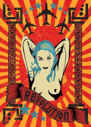 60-е годы. Плакат «Революция».