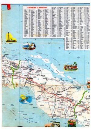 507. 1956. Карта Кубы и Гаваны. 2 лист, 3 фрагмент