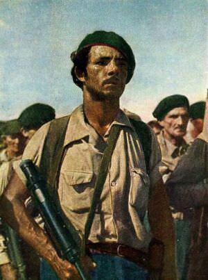 29. Гаванский рабочий - боец народной милиции. Цветное фото В. Володкина.