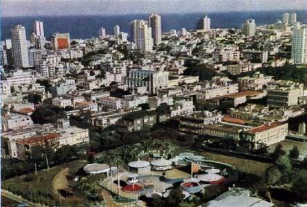 35. Вид на столицу республики - город Гавану. Цветное фото В. Киврина.