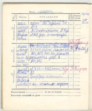 018. 1973-1974. 6 класс. Март