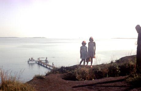 1980-1983. Мостик в Колорадо. Костиковы Алла и Лариса.