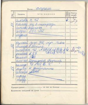 061. 1974-1975. 7 класс. Апрель