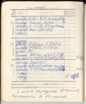 065. 1974-1975. 7 класс. Май