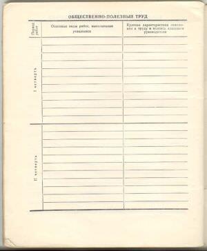 1974-1975. 7 класс. Общественно-полезный труд