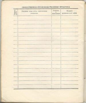 068. 1974-1975. 7 класс. Общественно-полезная практика