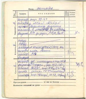 081. 1975-1976. 8 класс. Октябрь