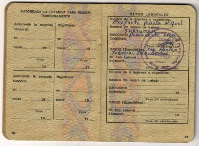 Удостоверение личности для иностранцев. Стр. 13-14