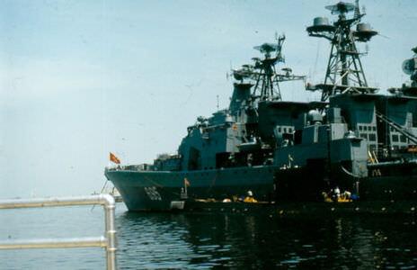 1984. Большой противолодочный корабль (БПК) «Удалой» Северного флота