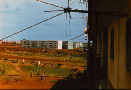 1983-1984. Вид с 4-го этажа 10 дома.