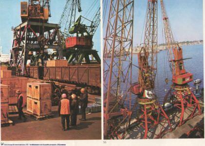 054. Descarga de mercancias. 055. Instalaciones en el puerto pesquero