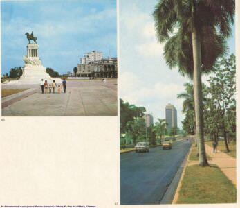 066. Monumento al mayor general Maximo Gomez en La Habana. 067. Pista de La Habana.