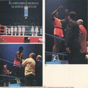 121. Inaguracion del primer campeonato mundial de boxeo. 122. Emilio Correa, campeonmundial de los 67 kilos. 123. Teofilo Stivenson, campeonmundial de los superpesados