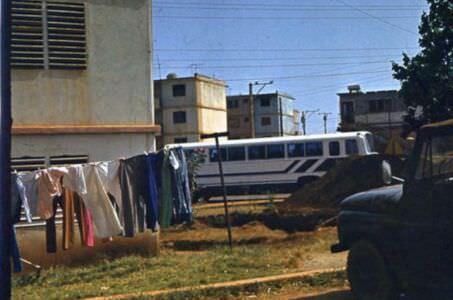 1980-1985. Автобус марки «Чавдар» в районе Лас-Колорадас