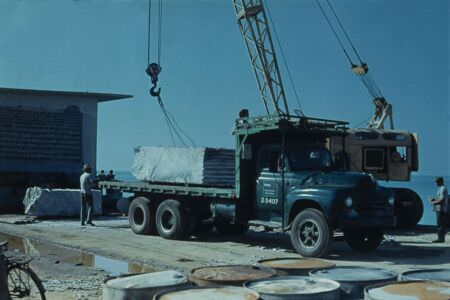 1975. Погрузка мрамора, остров Хувентуд (Пинос)