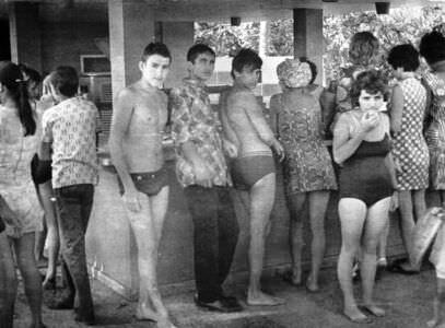 168. 1975-1976. На пляже Эль-Саладо