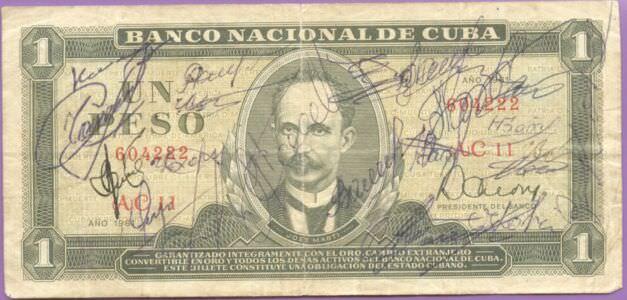 372. Купюра 1 песо с подписями, титул
