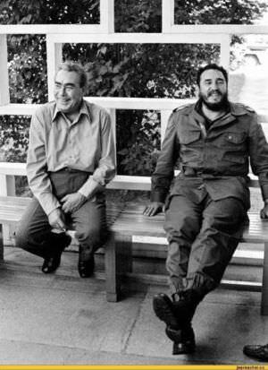 1974. Встреча Леонида Брежнева и Фиделя Кастро