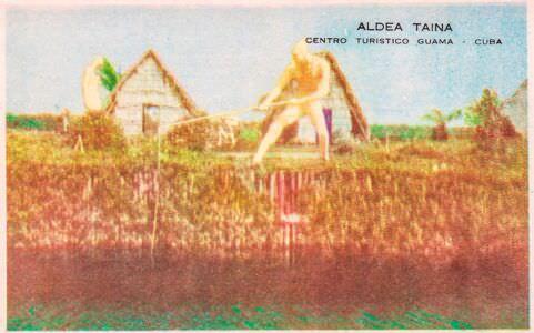 202. Индейская деревня, открытка 2