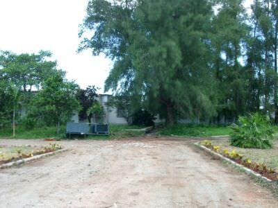 Старый приемный центра (ПЦ), вид со стороны нового ПЦ. Бывшая вилла сестры Фиделя, Анхелиты Кастро.