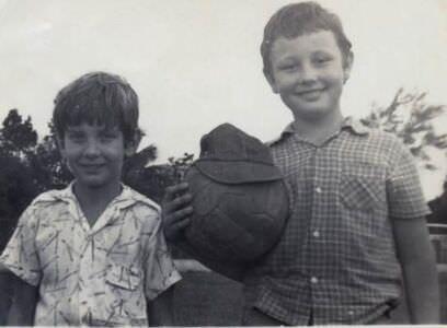 1983. Алексей Кубенко (слева) с Понитаевым Александром (из Орска).