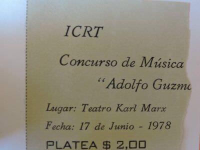 1978-06-17. Приглашение на музыкальный конкурс в театр Карла Маркса.