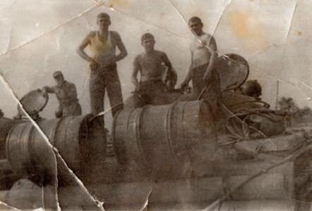 1975-1977. 3 танковая рота на учениях