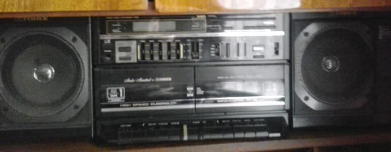 1990. Магнитофон «Fisher», ракурс 1