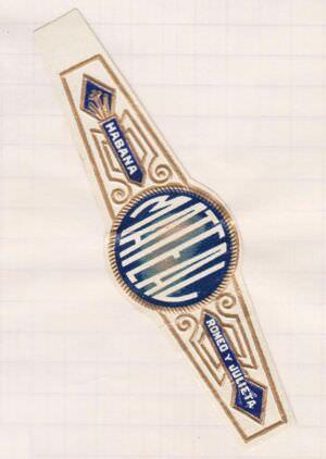 1968-1969. Коллекция наклеек на сигары, 87 экземпляр