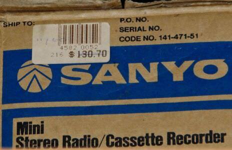 1987. Sanyo M-S400K. Коробка и ценник.
