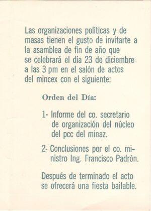 018. 1969. Приглашение на празднование десятилетия Кубинской революции, часть 2
